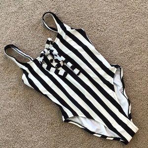 Striped J.Crew one piece🌞